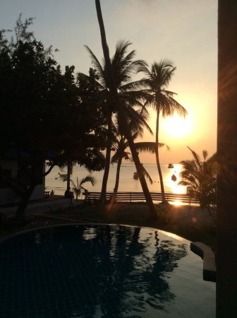 Seashell Resort Koh Tao: Blick von der Terrasse