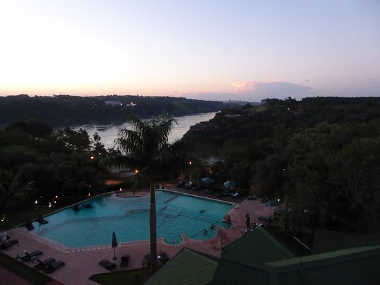 Amerian Portal del Iguazú: on the other side of river are Paraguay (left) and Brazil (right)