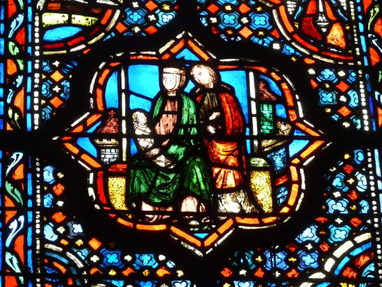 Sainte-Chapelle: The Holy Family from centuries ago