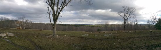 New Gloucester, ME: Looking over the back fields toward the lake!
