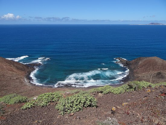 Isla de Lobos : view from the top of the volcano