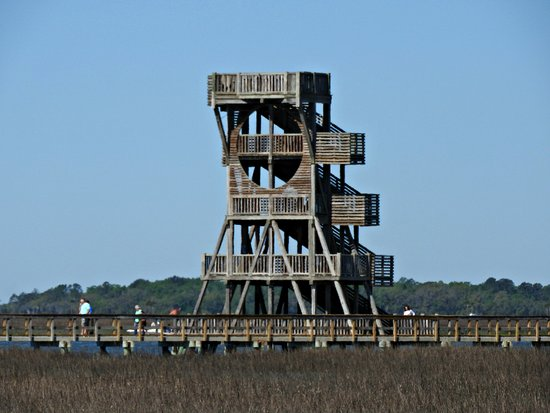 Port Royal, SC: The outlook and boardwalk