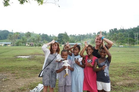 Korovisilou, Fiji: School visit