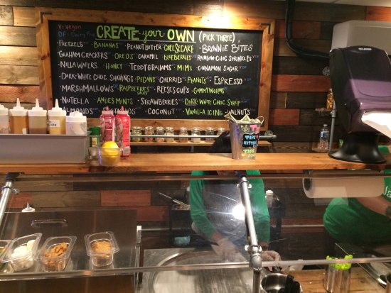 create your own menu picture of naturoll creamery lawrenceville