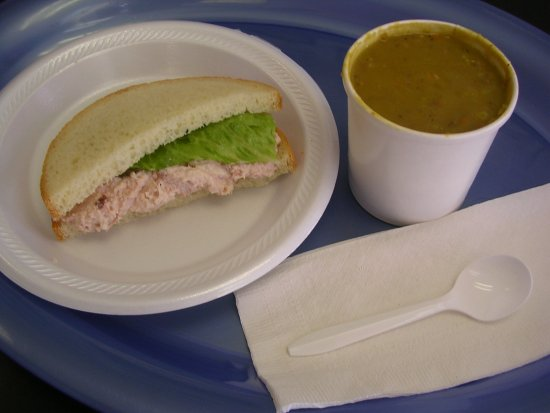 Ham Heaven & Devil Dogs: Split Pea Soup and Ham Salad Sandwich