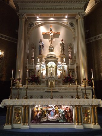 Berlin, NH: The altar and reredos of St. Annes' Church.