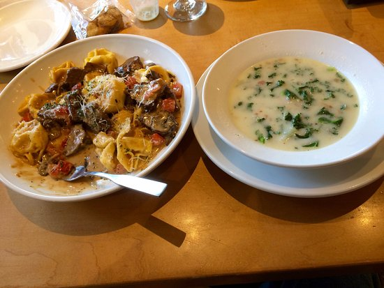 Olive Garden: Beef Tortelloni, Zuppa Toscana Soup