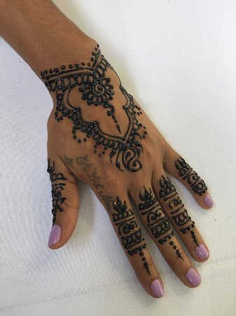 Henna Tattoo On My Hand In Specialty Caribbean Expo Picture Of