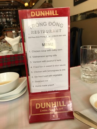 Trong Dong Restaurant : A menu we saw on the table