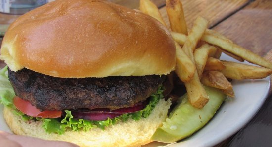 Larkspur, CA: blackened burger