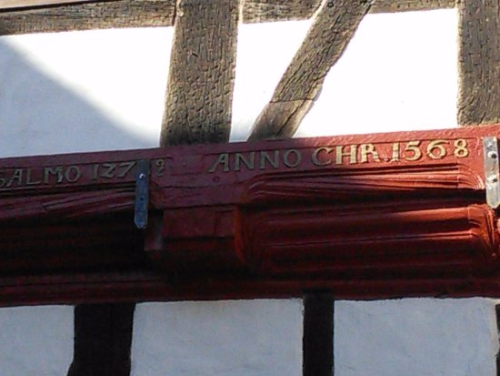 Lauenau, Alemania: The wood showing the date 1568.