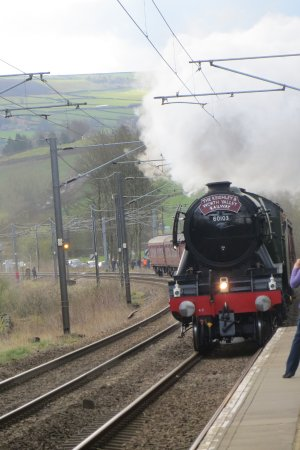 Cononley, UK: Visit from Flying Scotsman