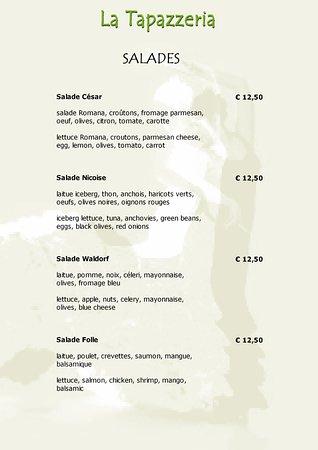 La Tapazzeria: menu
