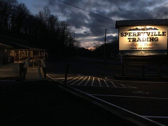 Sunrise at Sperryville Trading, Sperryville, VA.
