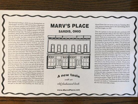 Sardis, OH: Marv's Place History