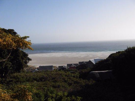 Monkey Valley Resort: View of Noordhoek beach from the restaurant