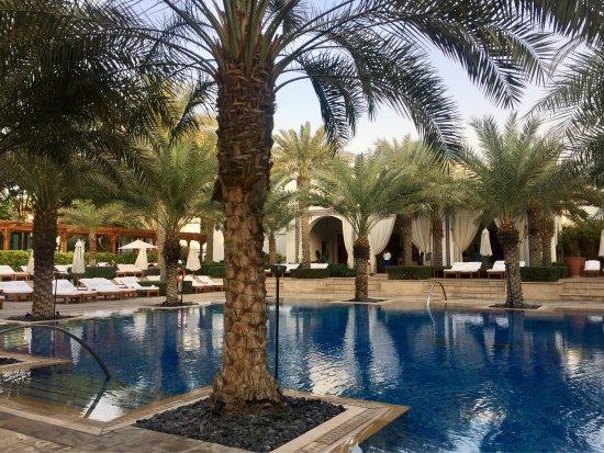 Near the swimming pool picture of park hyatt dubai for Beautiful hotels in dubai
