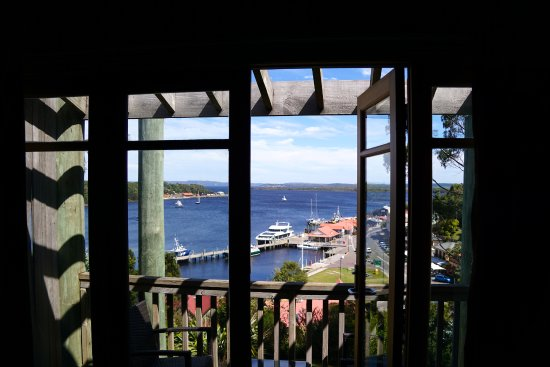 Strahan Village: View from inside the room