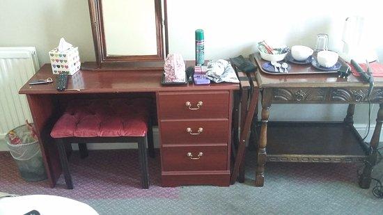 Ambassador Hotel: Miss matched old furniture