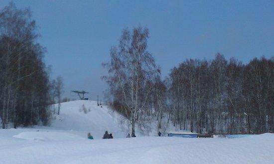 Novososedovo, Russia: вид на трассу для катания на плюшках, беби-лифт