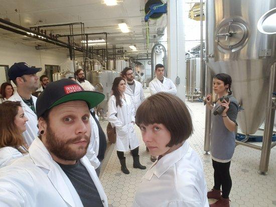 Montreal Craft Beer Tours: Salle de brassage Mabrasserie.