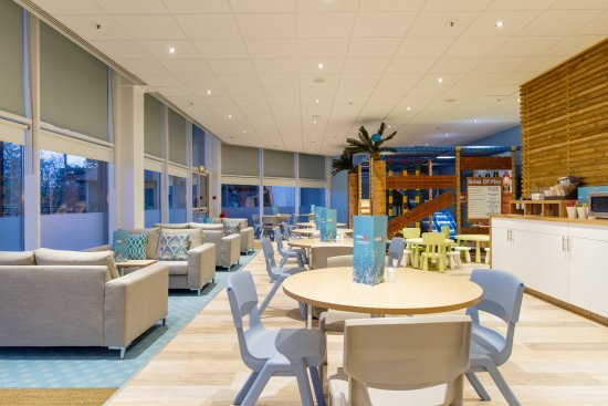 Aqua Lounge: Smaller Sofas And Tables And Chairs Near The Kids Soft Play  Area