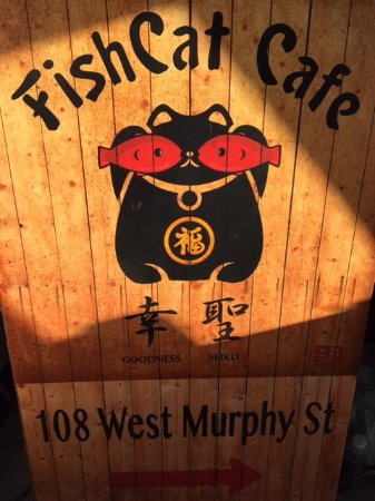 Fish Cat Cafe is located at 108 West Murphy Street, downtown Alpine