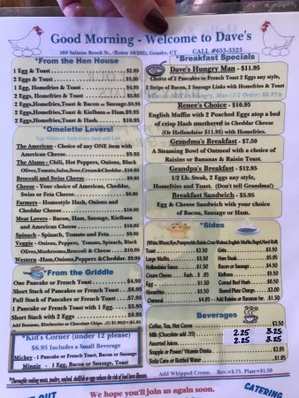 Granby, CT: Dave's Restaurant