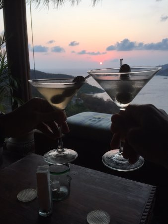 Amuleto: toasting our last night of our fabulous get away while watching the sunset