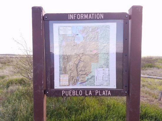 Cordes Lakes, AZ: Sign at Pueblo.