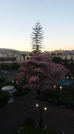 Hotel Fray Junipero Serra : Vista de la Plaza Principal desde la habitación