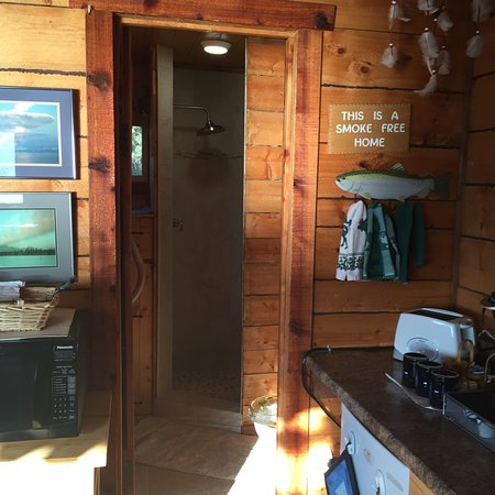 Kasilof, AK: Cabin's new bathroom, remodeled in 2016