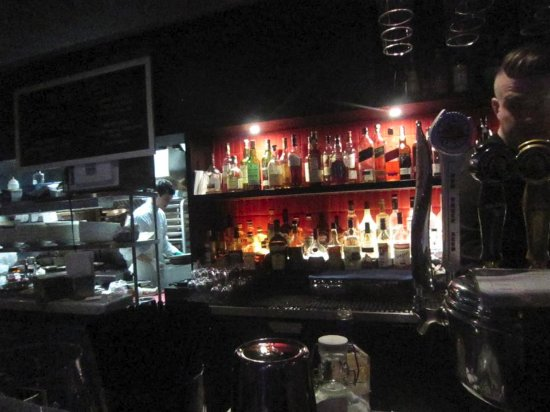 Blue Water Cafe: The bar! watch them make the food and your drinks!