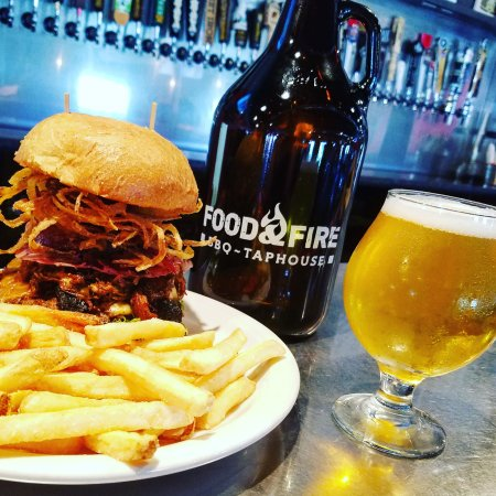 Food & Fire BBQ Taphouse: The MOUNTAIN BURGER!!!!