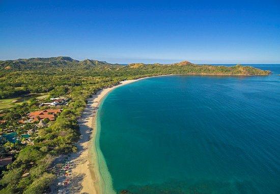 Reserva Conchal Beach Resort, Golf & Spa : Turquise Waters, White sand, Aereal look.
