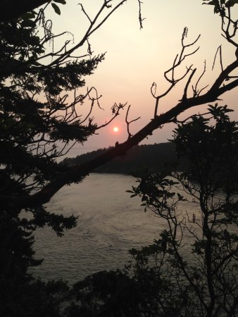 View Of Sunset From Deception Pass, Oak Harbor, Washington