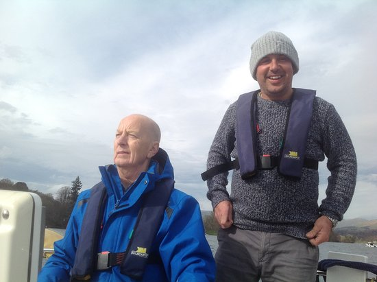 Bowness-on-Windermere, UK: John and Keith sailing