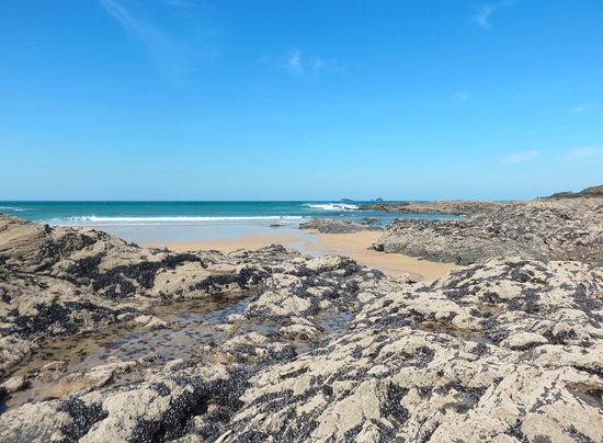 Treyarnon Bay Beach: Rockpools to discover at low tide