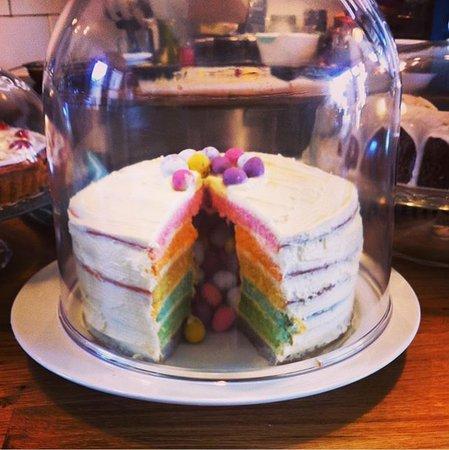 Wirksworth, UK: Homemade surprise mini egg cake, Happy Easter 🐣
