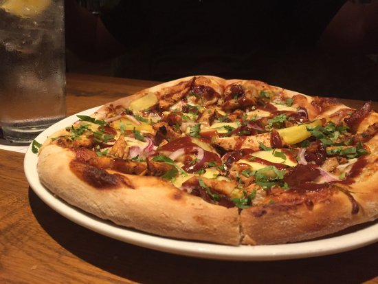 Solana Beach, Californië: BBQ chicken pizza