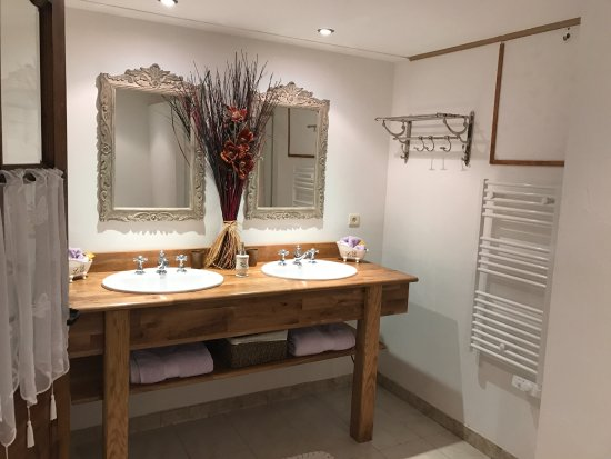 Chez Dany - Maison D'Hotes : Bathroom is super clean with very nice decoration.