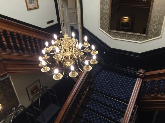 Clayton le Moors, UK: Staircase to the room