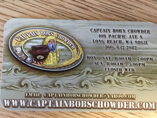 Long Beach, WA: Captain Bob's Chowder
