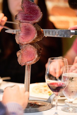 Pampas: We are known for our unlimited rodizio, featuring 12+ cuts of meat carved tableside!