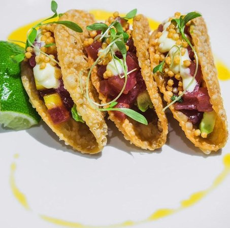 Pampas: Try our fresh ahi tacos during Happy Hour!