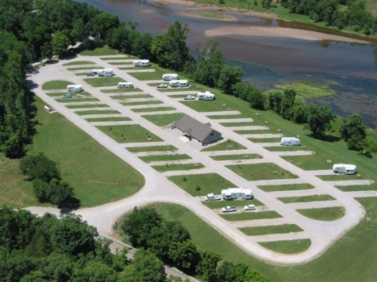 Cotter, AR: View of the RV park