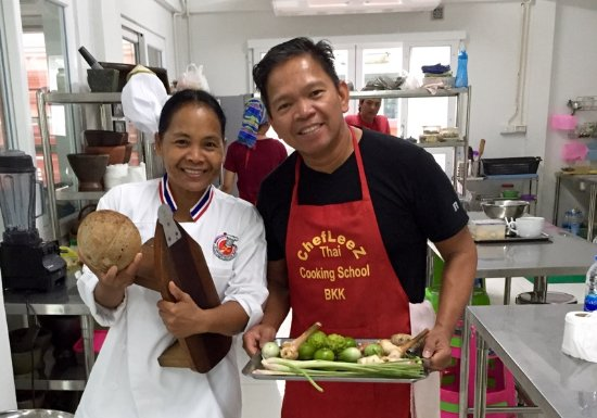 Chef LeeZ Thai Cooking Class : with Chef Leez  during the Thai cooking class, Bangkok 03/09/2017