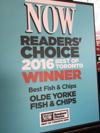 Photo of Seafood Restaurant Olde Yorke Fish & Chips at 96 Laird Dr, Toronto M4G 3V3, Canada