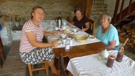 Viscri 44: Having breakfast at 44 Viscri.