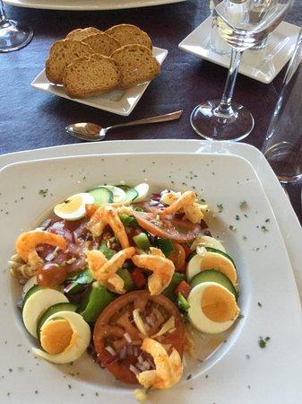 El Gastor, إسبانيا: Salade met scampis